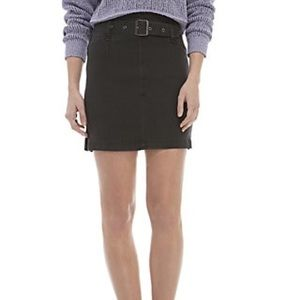 NWT. Free People Belted Denim Mini Skirt